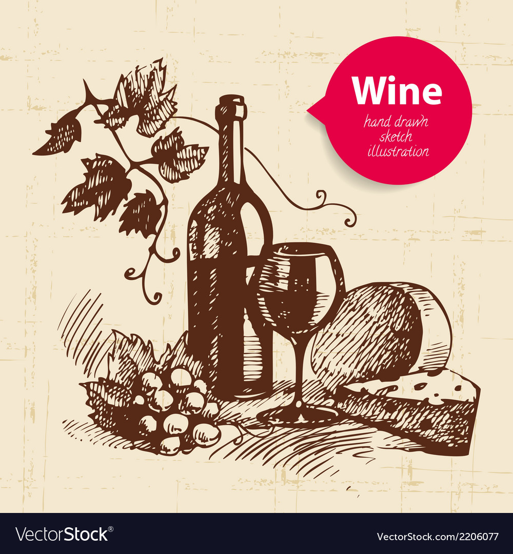 Wine vintage background with banner vector | Price: 1 Credit (USD $1)