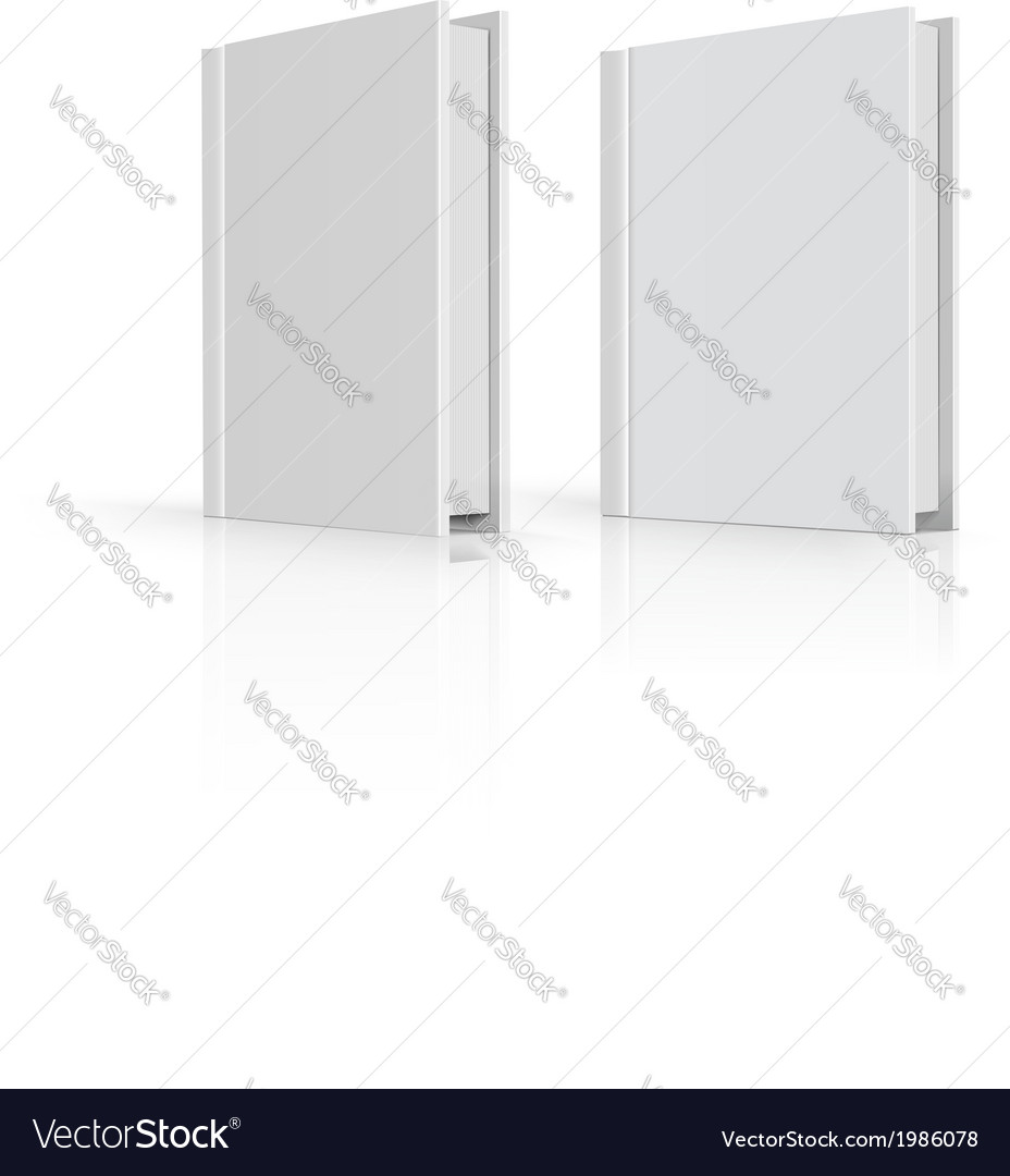 Blank book cover over white background vector | Price: 1 Credit (USD $1)