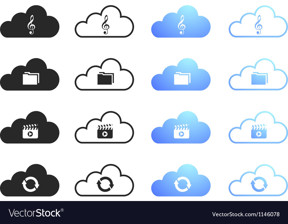 Cloud computing icons - set 3 vector | Price: 1 Credit (USD $1)