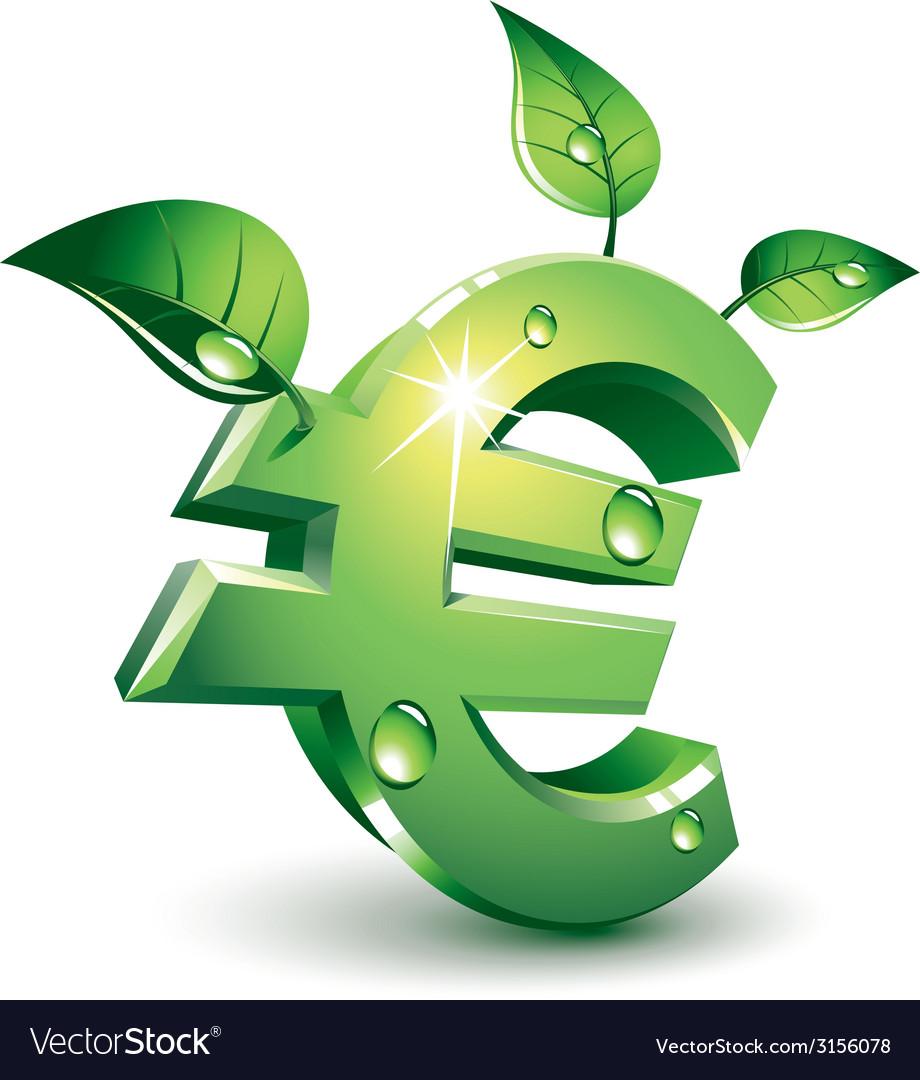 Flourishing euro vector | Price: 1 Credit (USD $1)
