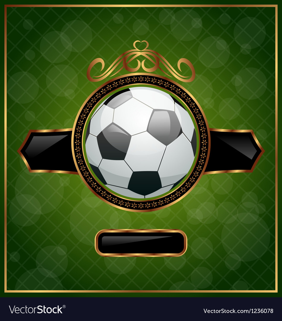 Football background with the ball vector | Price: 1 Credit (USD $1)