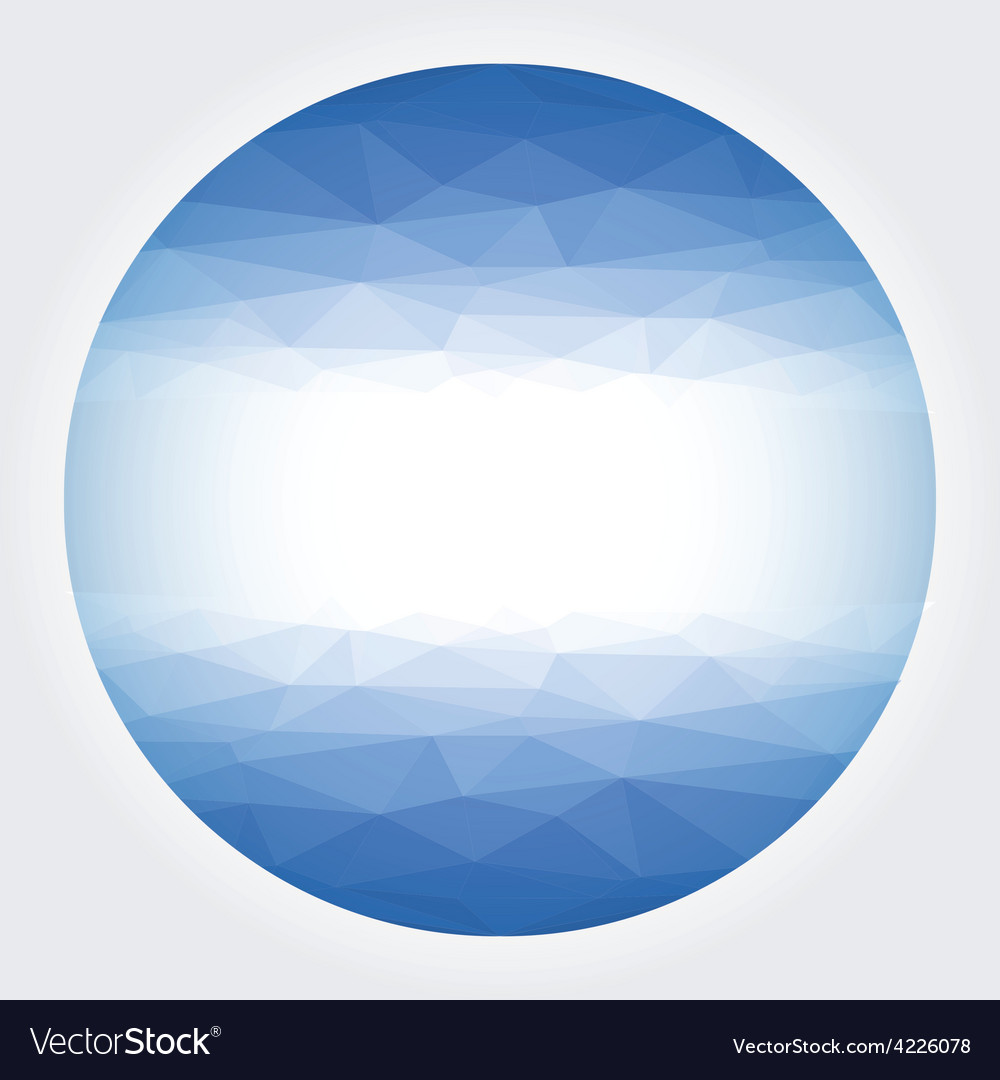 Low poly circle blue abstract vector   Price: 1 Credit (USD $1)