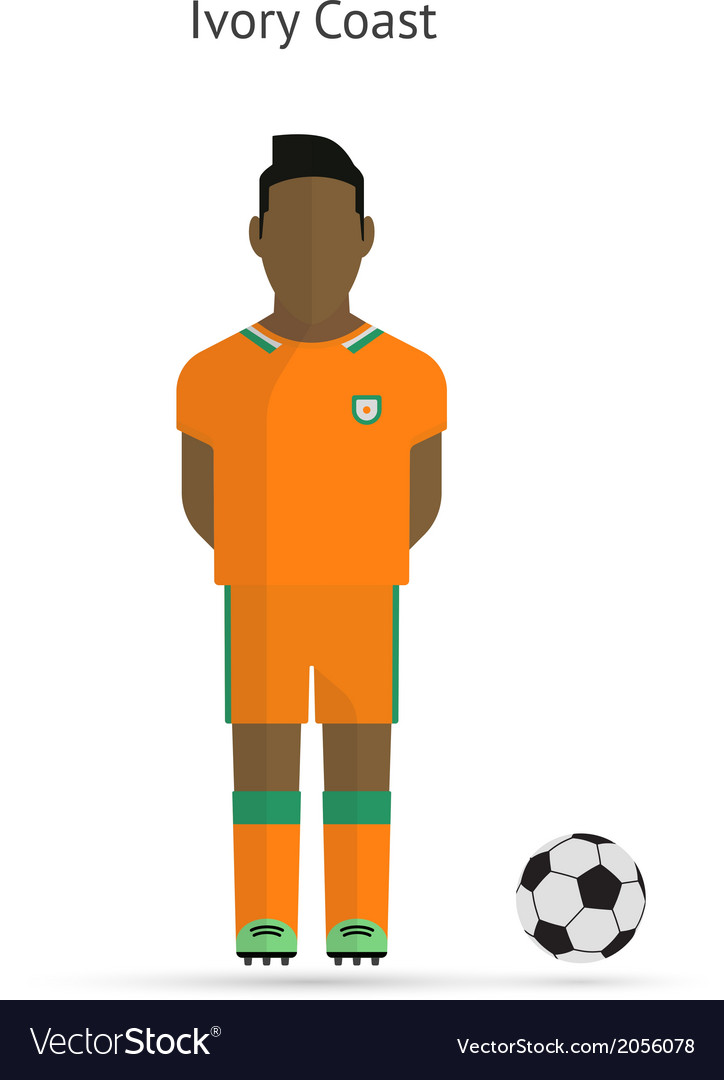National football player ivory coast soccer team vector | Price: 1 Credit (USD $1)