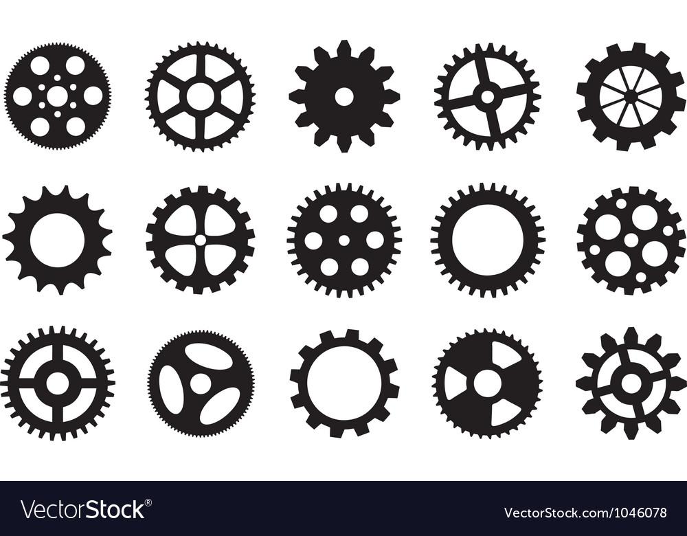 Set of gear wheels vector | Price: 1 Credit (USD $1)