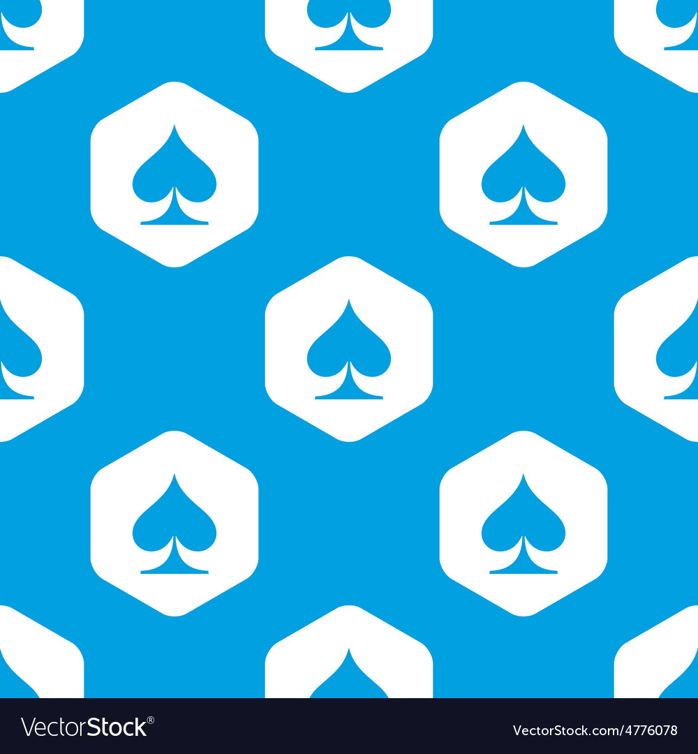 Spades hexagon pattern vector | Price: 1 Credit (USD $1)