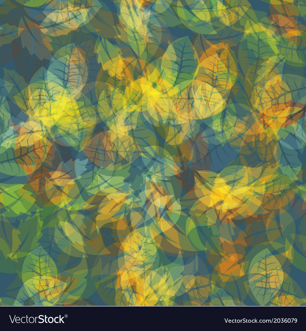 Abstract colorful leaves nature background vector | Price: 1 Credit (USD $1)
