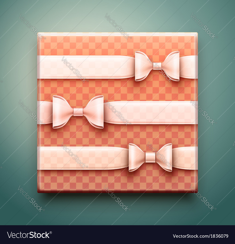 Box with gift vector | Price: 1 Credit (USD $1)