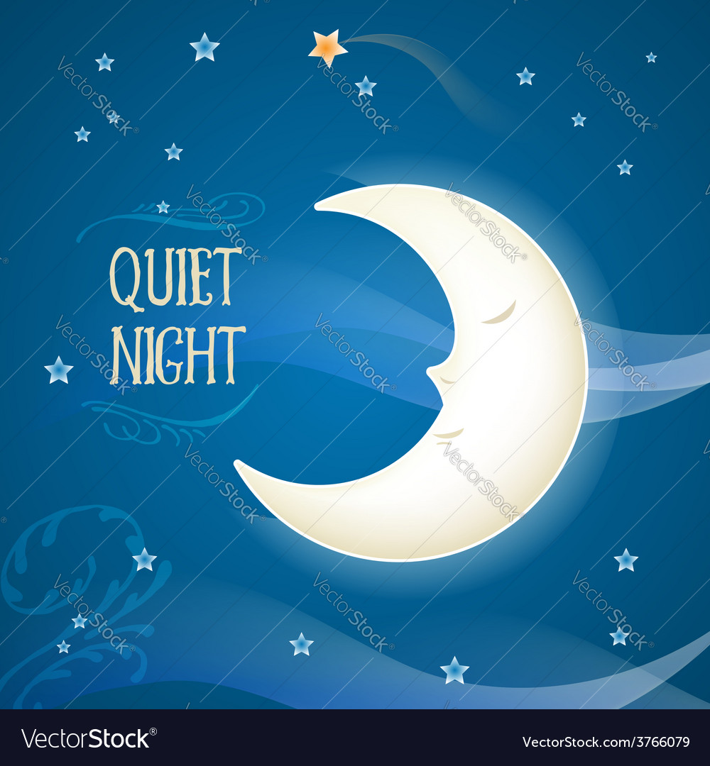 Cartoon sleeping moon vector | Price: 1 Credit (USD $1)