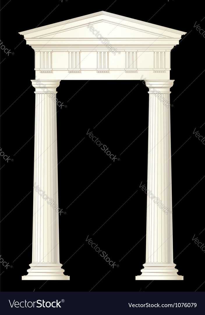 Classic columns drawing vector | Price: 1 Credit (USD $1)