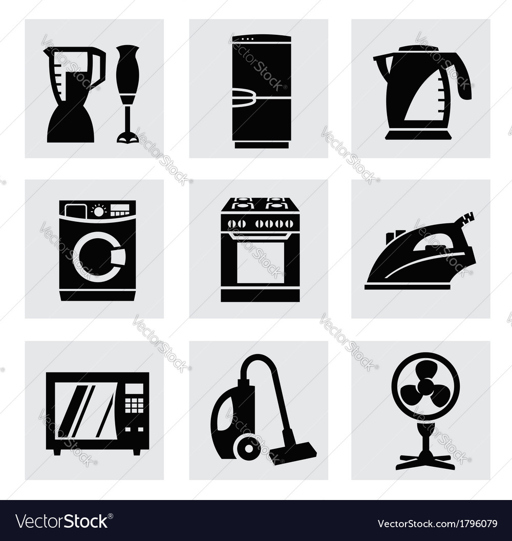 Electronics icon set vector | Price: 1 Credit (USD $1)