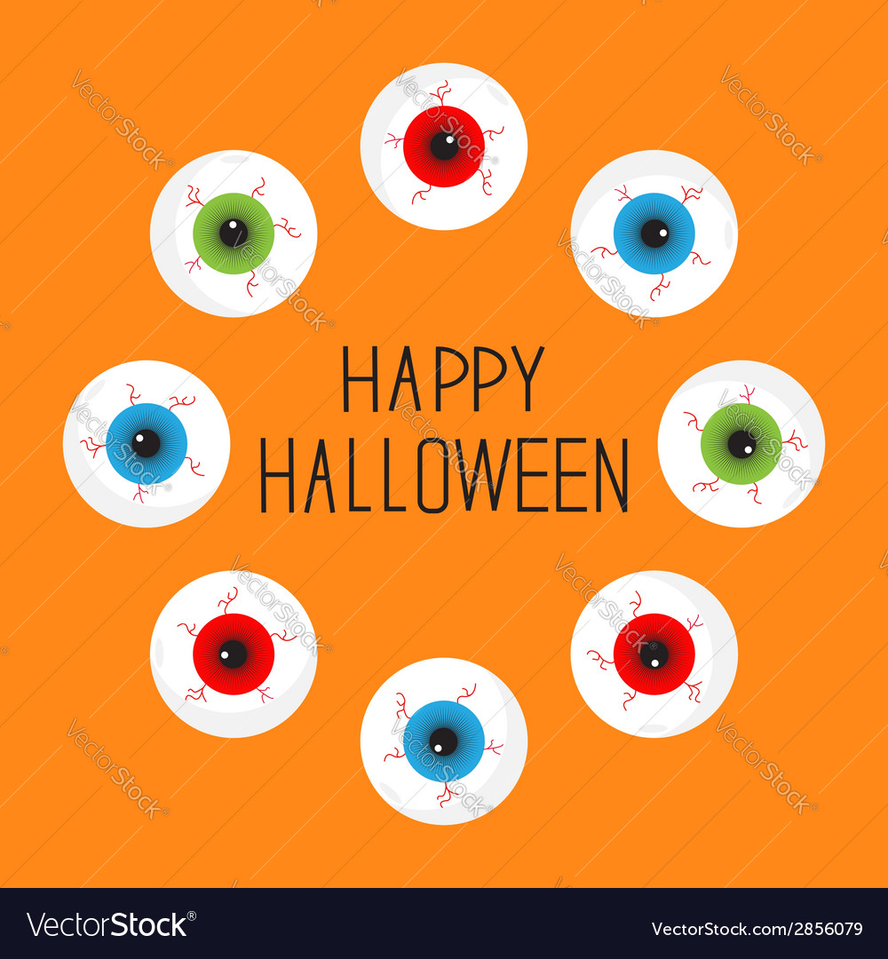 Eyeballs with bloody streaks round frame vector | Price: 1 Credit (USD $1)