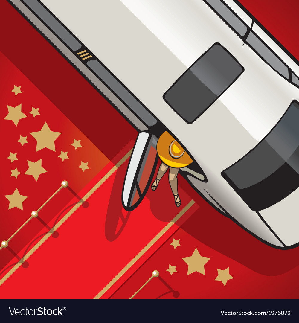 Limo on the red carpet vector | Price: 1 Credit (USD $1)
