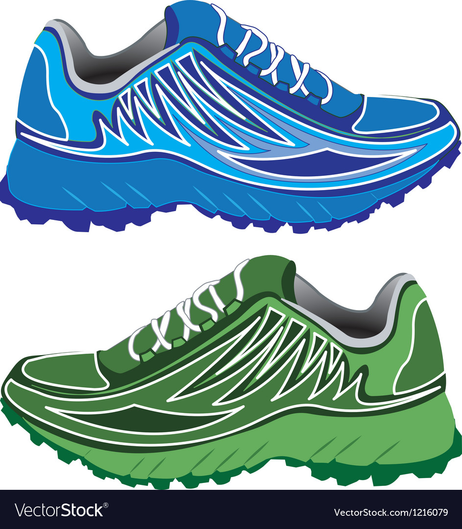 Sport shoes couple vector | Price: 1 Credit (USD $1)