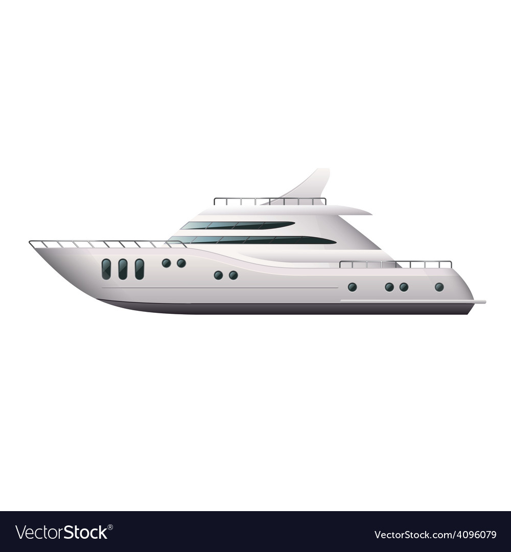 Yacht isolated vector | Price: 3 Credit (USD $3)