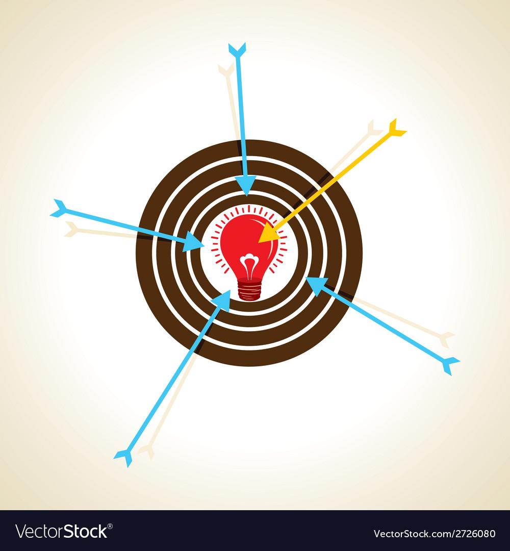 Arrow focus on new idea concept vector | Price: 1 Credit (USD $1)