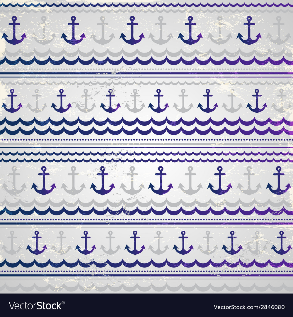Beautiful anchor seamless vector | Price: 1 Credit (USD $1)