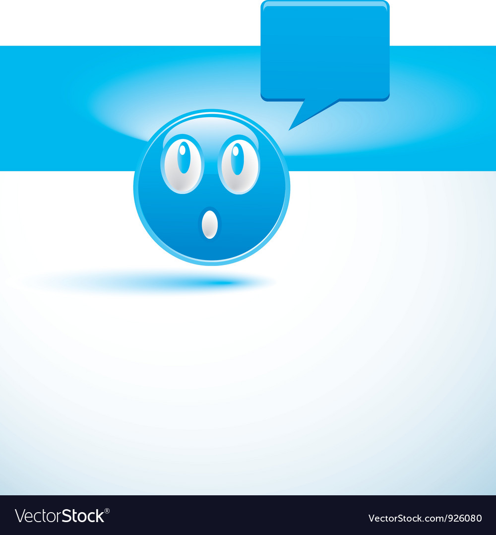 Blue background with smiley vector | Price: 1 Credit (USD $1)