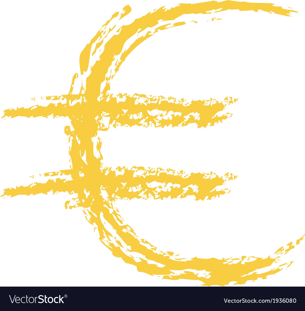 Euro sign brushed vector | Price: 1 Credit (USD $1)