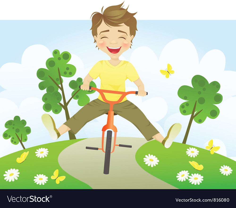 Fun riding bike vector | Price: 3 Credit (USD $3)