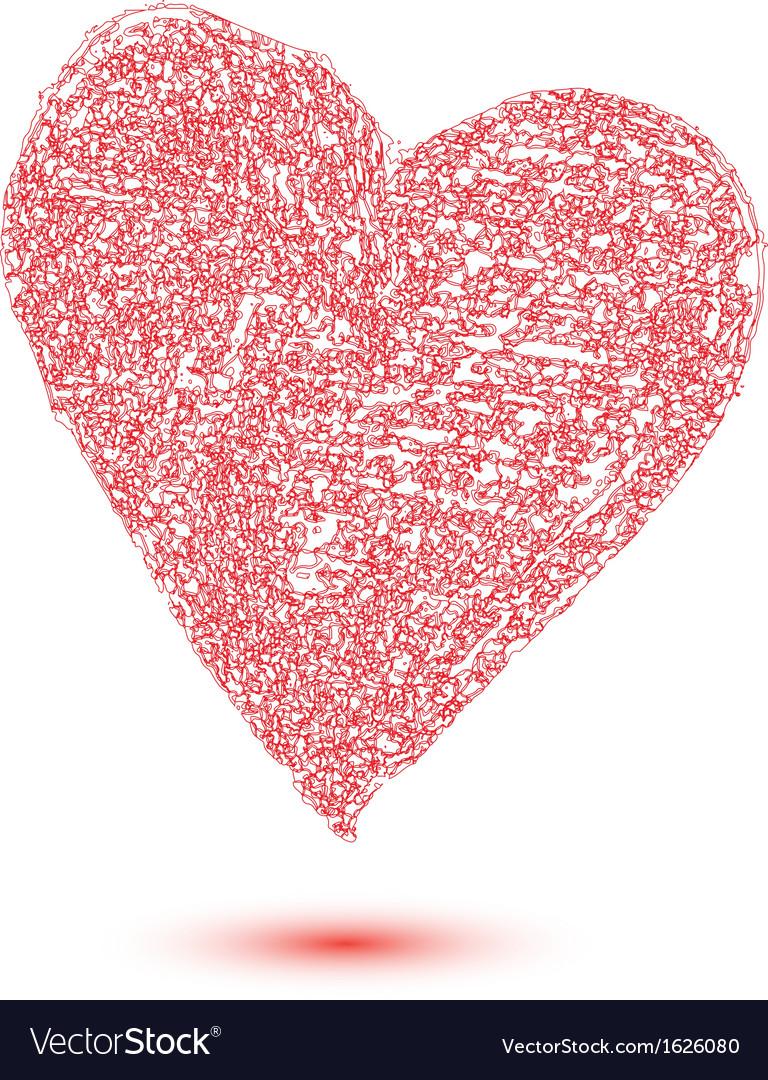 Heart shape design for love symbols vector | Price: 1 Credit (USD $1)