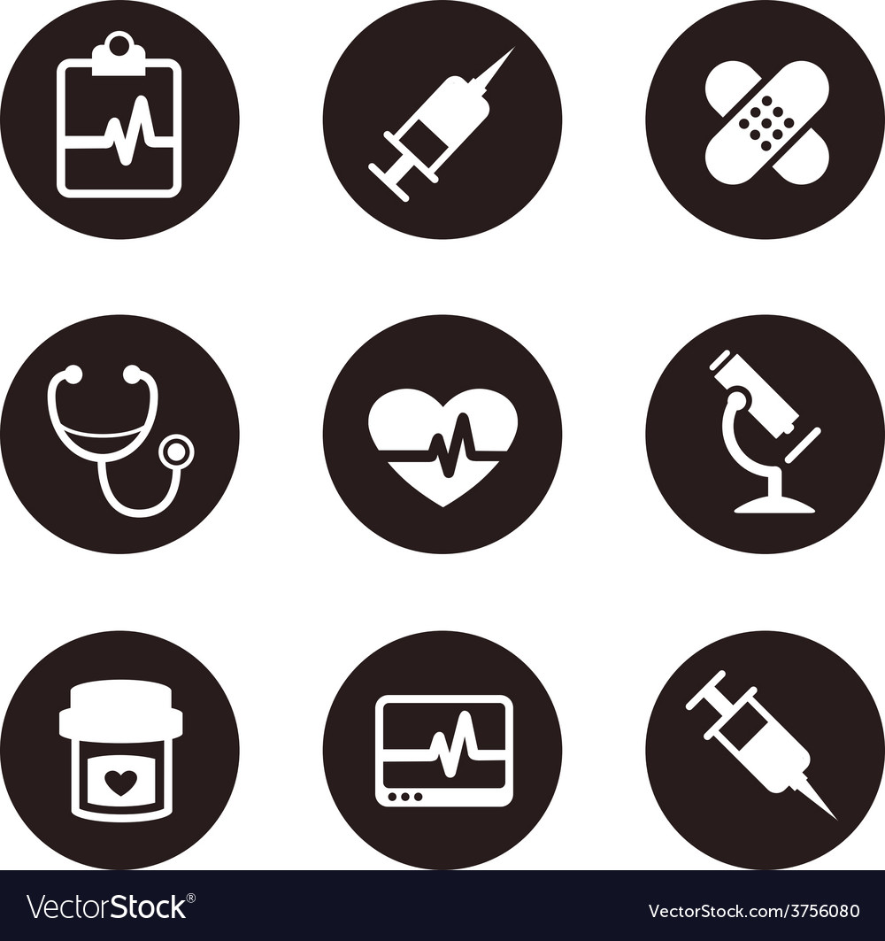 Medicaliconsetcollectionblack vector | Price: 1 Credit (USD $1)