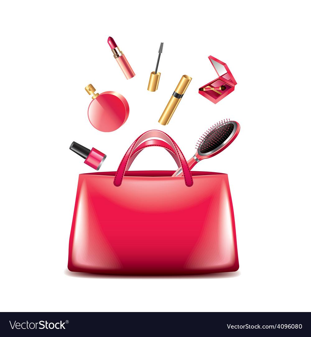 Women bag cosmetics isolated vector | Price: 3 Credit (USD $3)