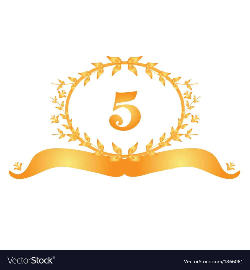 5th anniversary banner vector | Price: 1 Credit (USD $1)