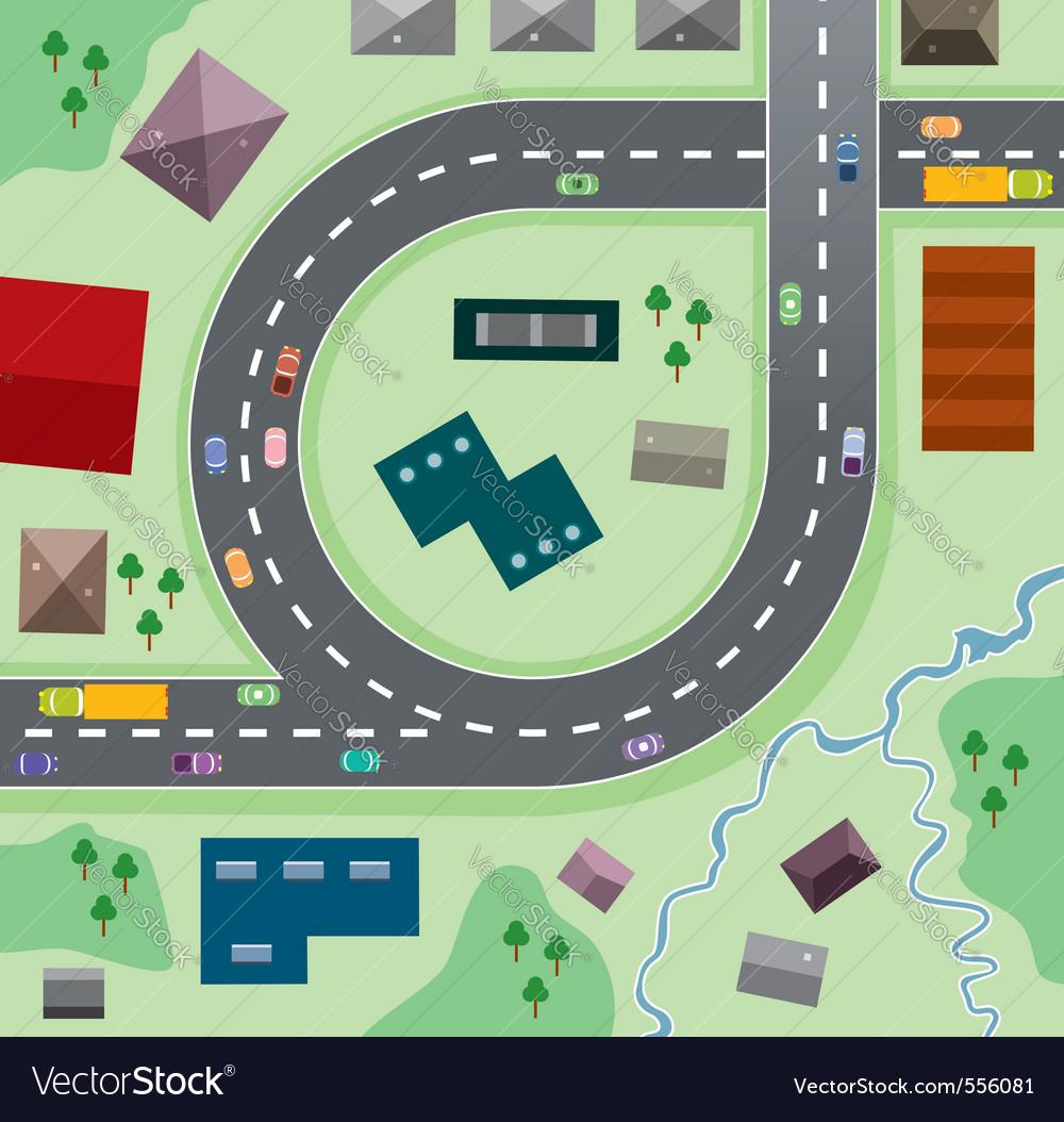 Birdseye city vector | Price: 3 Credit (USD $3)