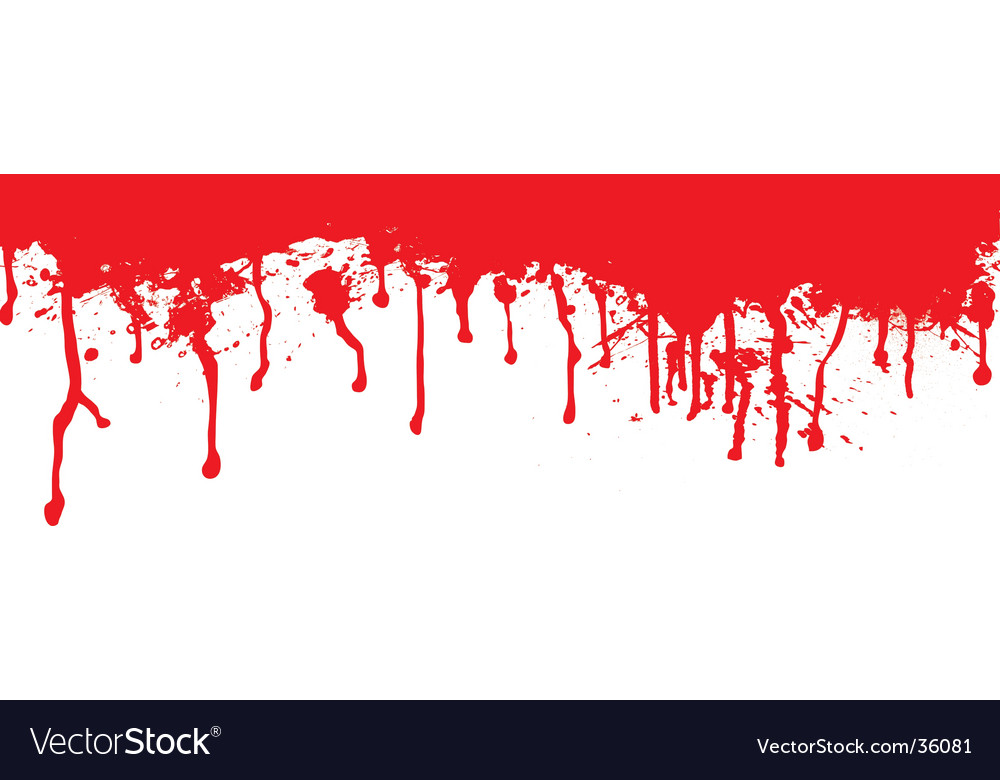 Blood splat dribble vector | Price: 1 Credit (USD $1)