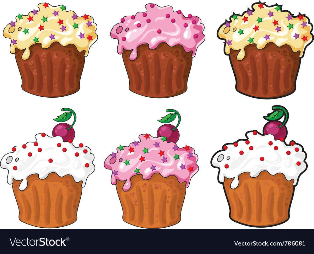Collection funny cake vector | Price: 1 Credit (USD $1)