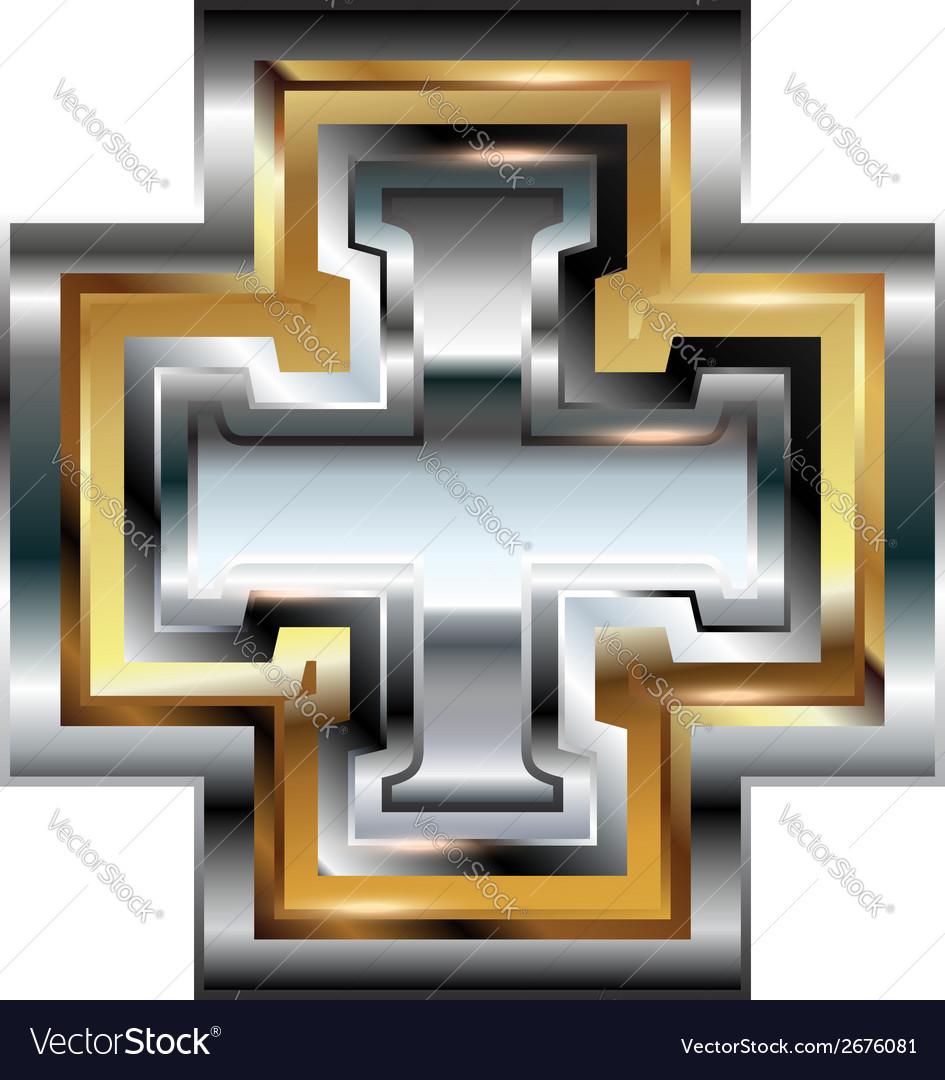 Fancy cross symbol vector | Price: 1 Credit (USD $1)