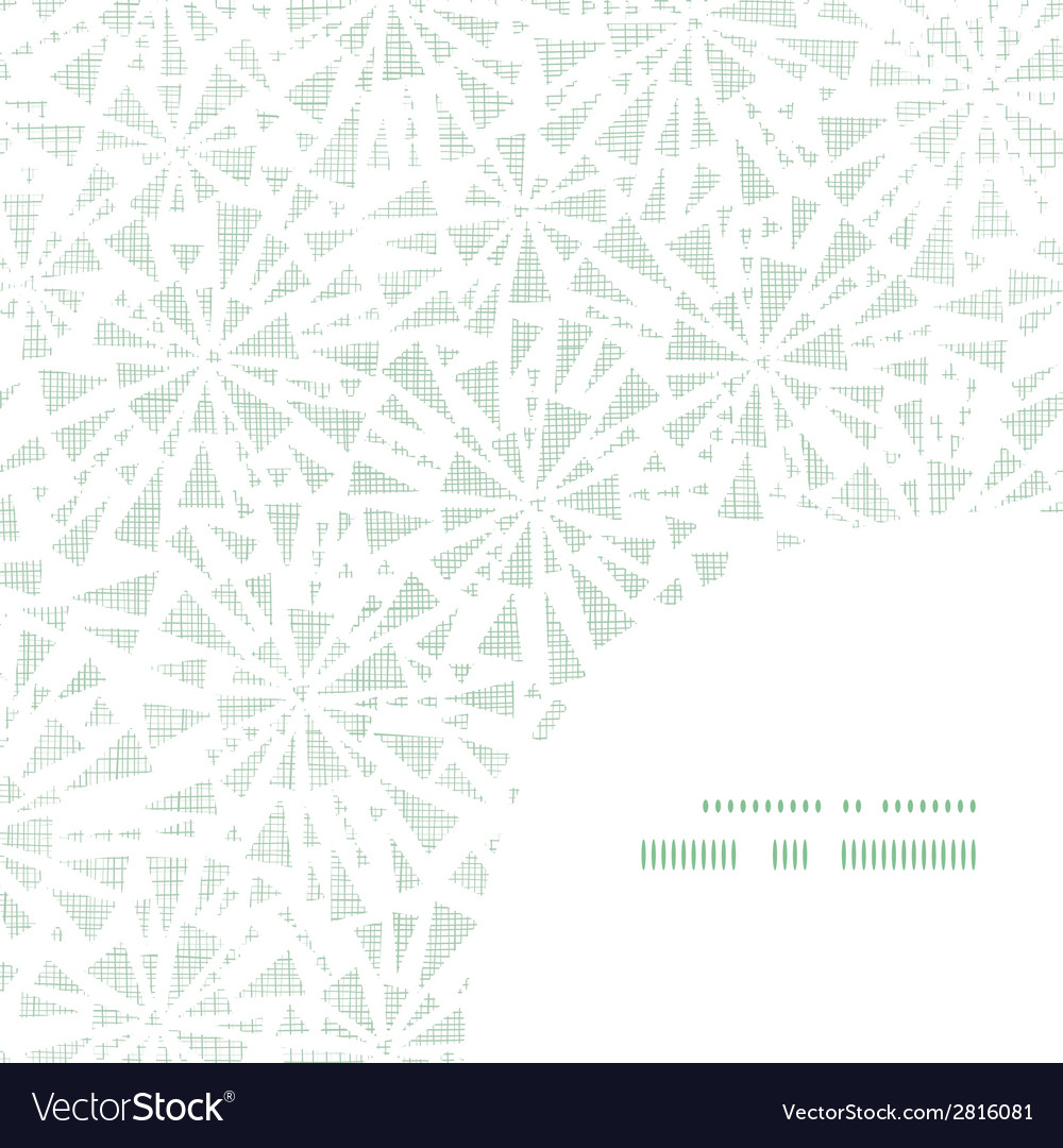 Green abstract triangles textile texture frame vector | Price: 1 Credit (USD $1)