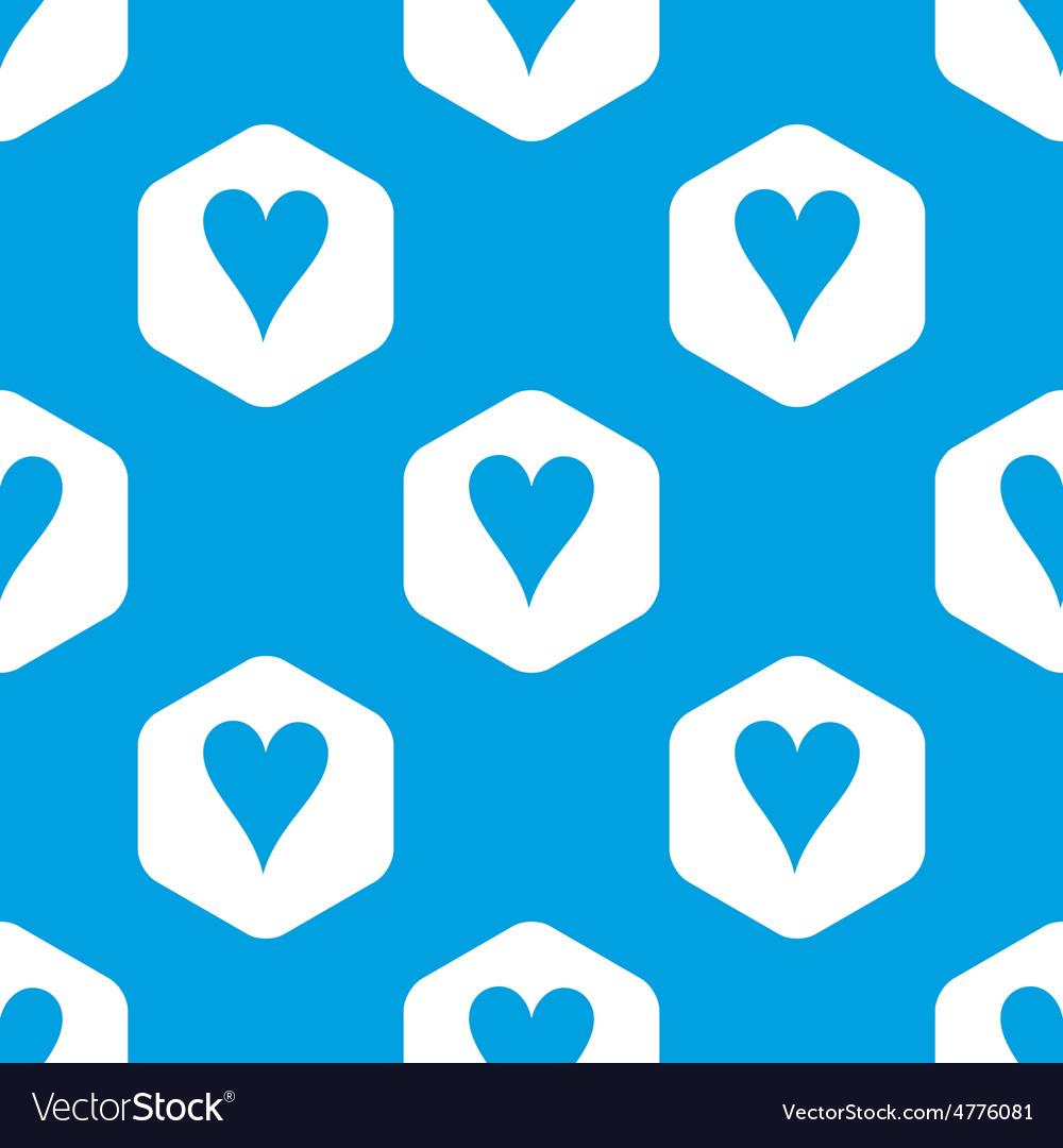 Hearts hexagon pattern vector | Price: 1 Credit (USD $1)