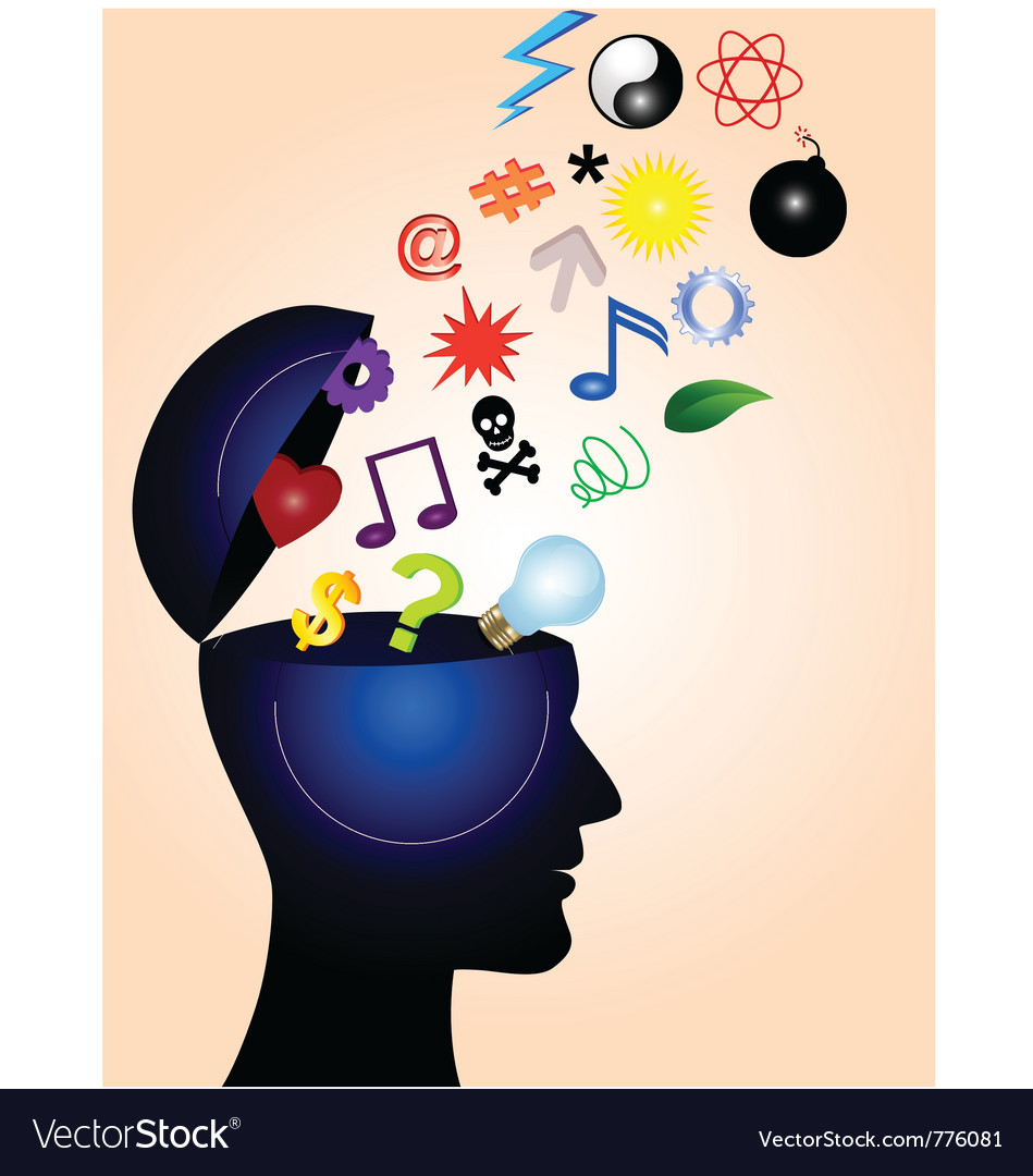 Human mind vector | Price: 1 Credit (USD $1)