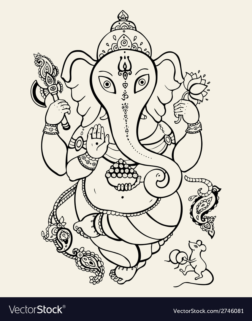 Lord ganesha vector | Price: 1 Credit (USD $1)