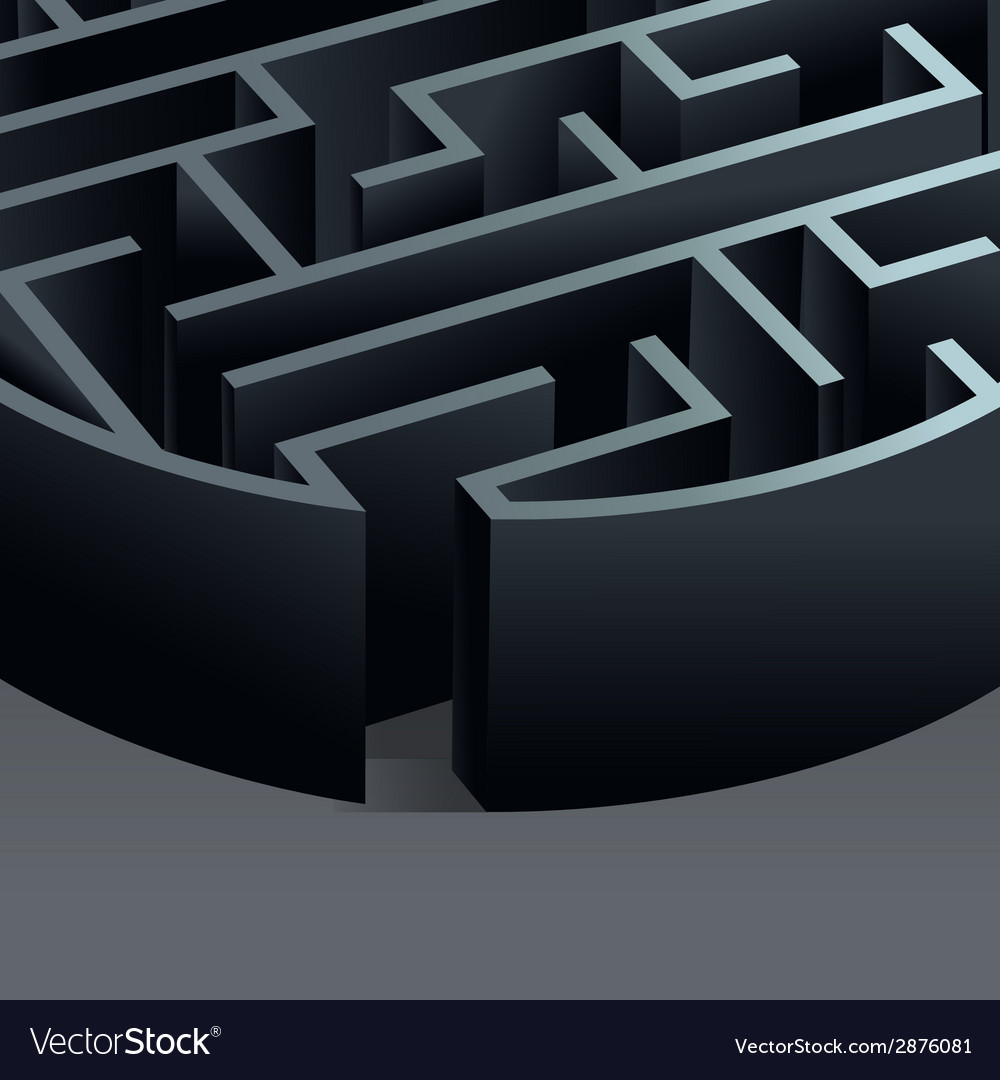 Maze 3d circle vector   Price: 1 Credit (USD $1)