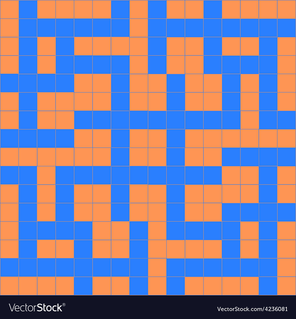 Orange blue crossword vector | Price: 1 Credit (USD $1)