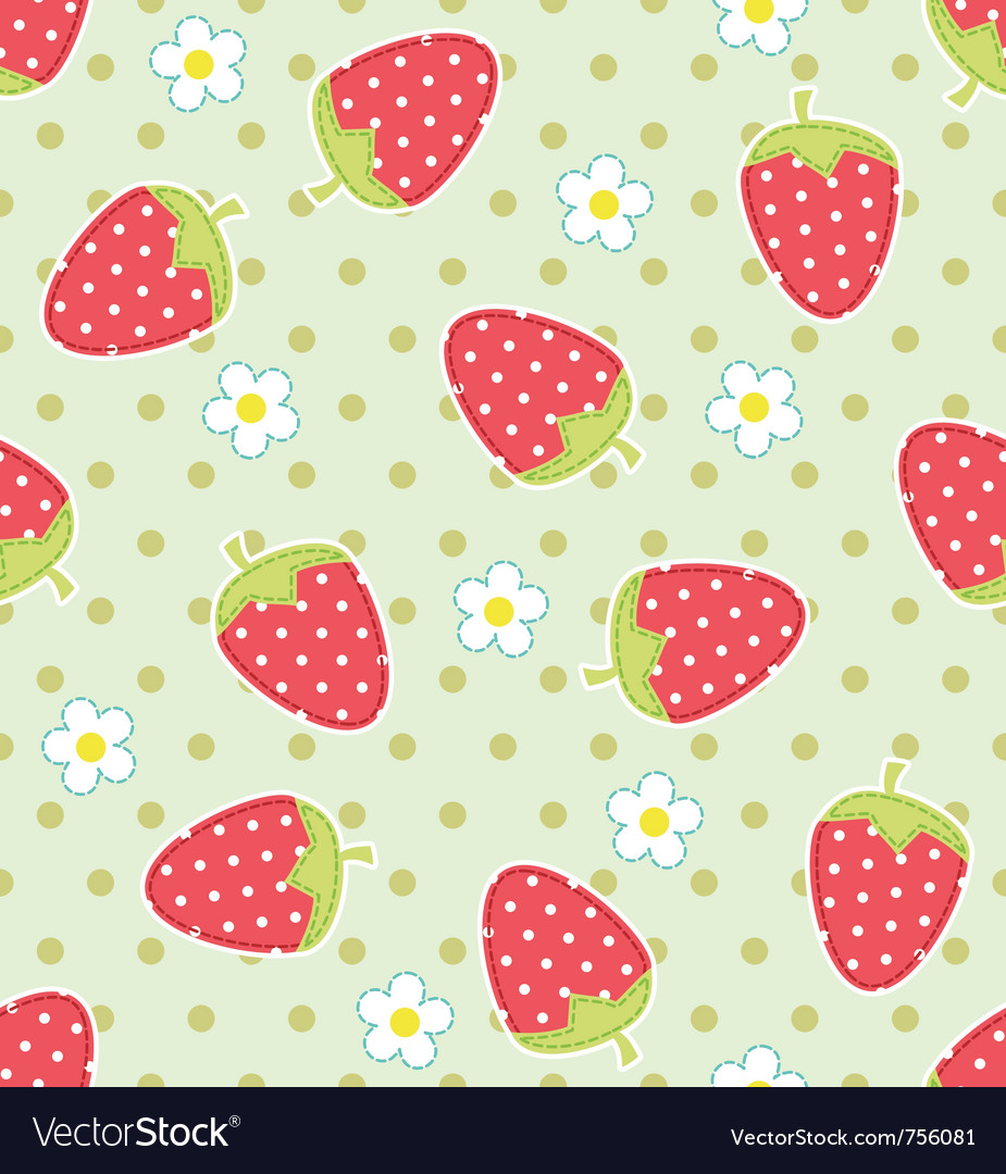 Strawberry pattern vector | Price: 1 Credit (USD $1)