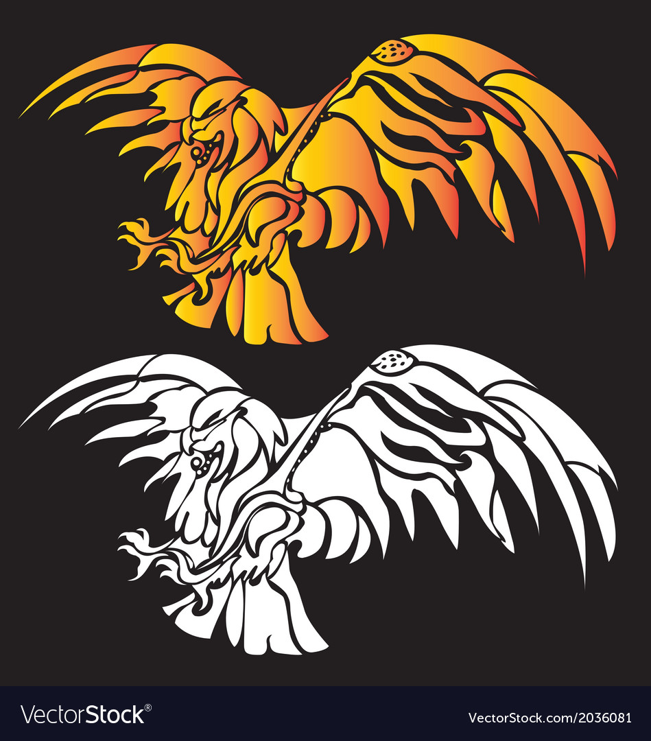 Super eagle fire tribal abstract vector | Price: 1 Credit (USD $1)