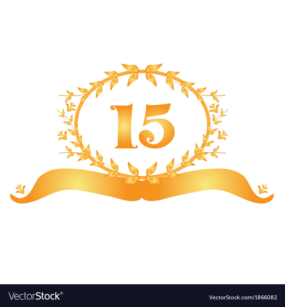 15th anniversary banner vector | Price: 1 Credit (USD $1)