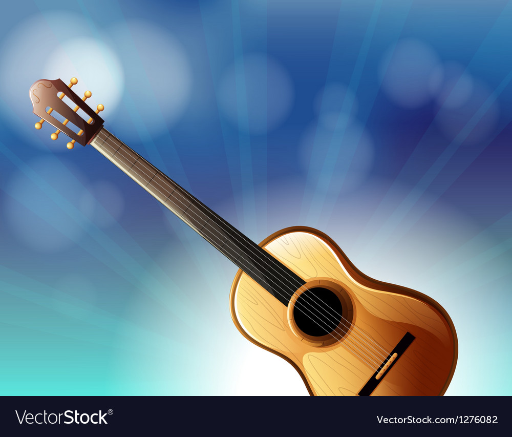 A stationery with a classical guitar vector | Price: 1 Credit (USD $1)