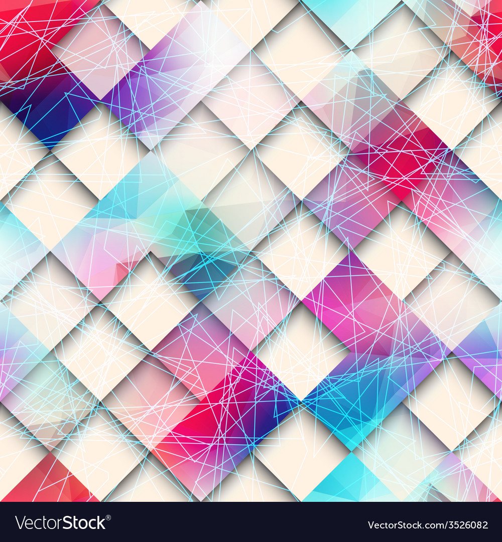 Abstract geometric pattern of squares vector | Price: 1 Credit (USD $1)