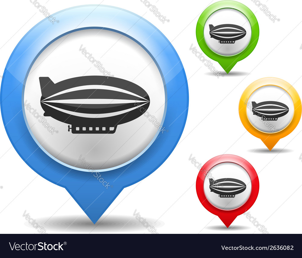 Airship icon vector | Price: 1 Credit (USD $1)