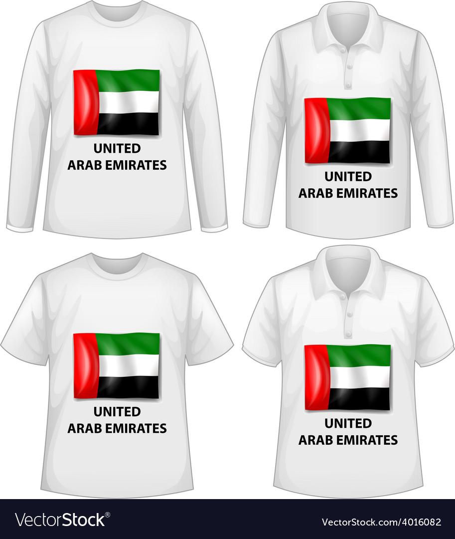 Arab emirates shirts vector | Price: 1 Credit (USD $1)