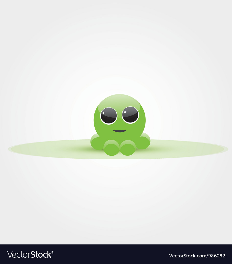 Baby octopus vector | Price: 1 Credit (USD $1)