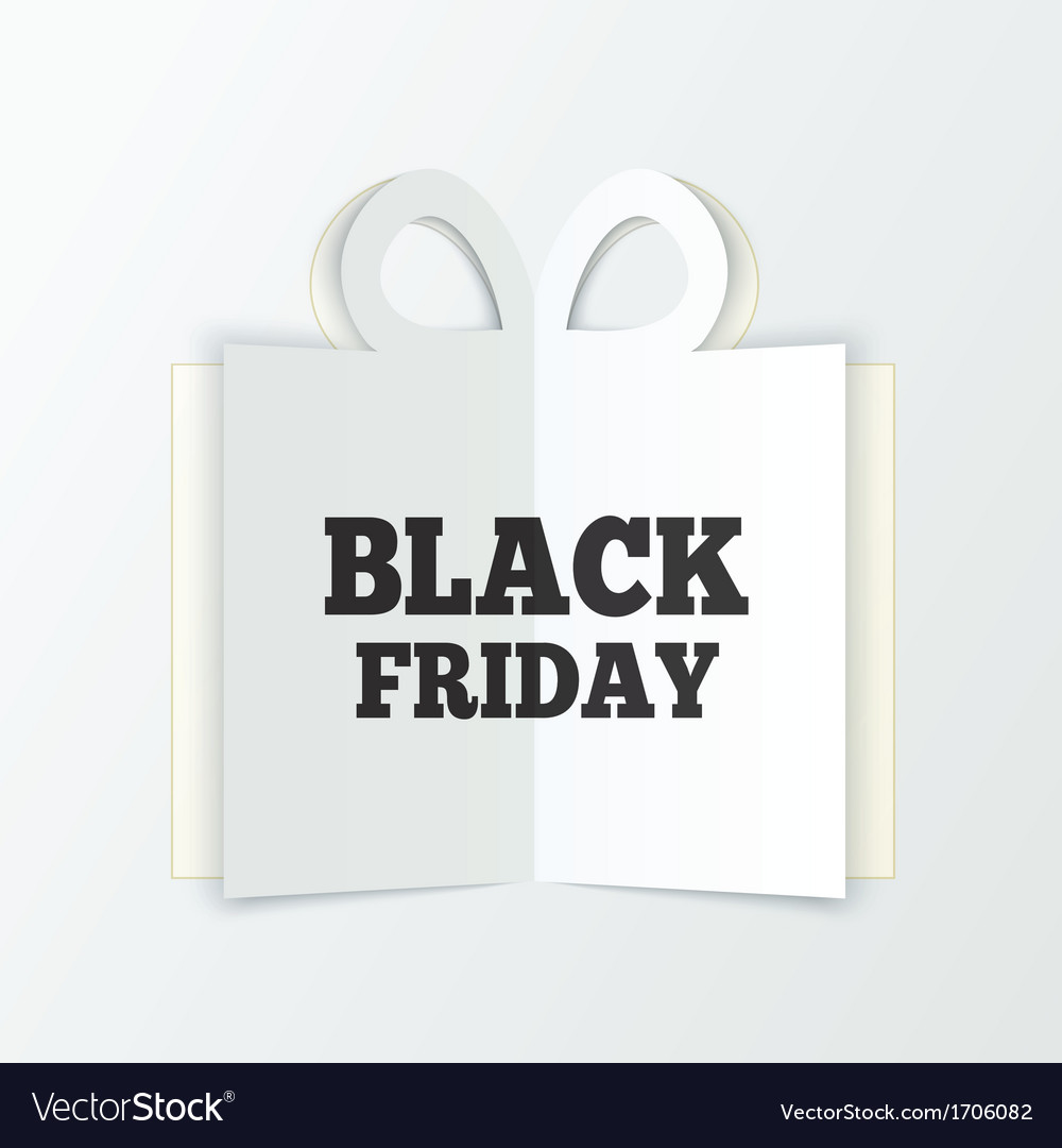 Black friday sale box cut the paper christmas vector | Price: 1 Credit (USD $1)