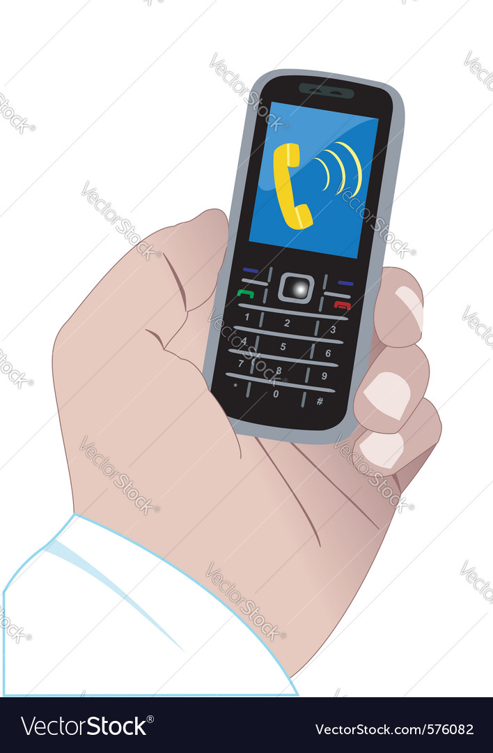 Calling mobile phone vector | Price: 1 Credit (USD $1)