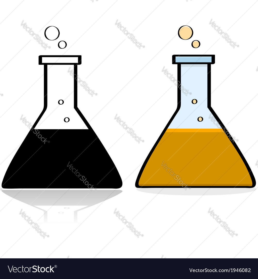 Chemistry lab beaker vector | Price: 1 Credit (USD $1)