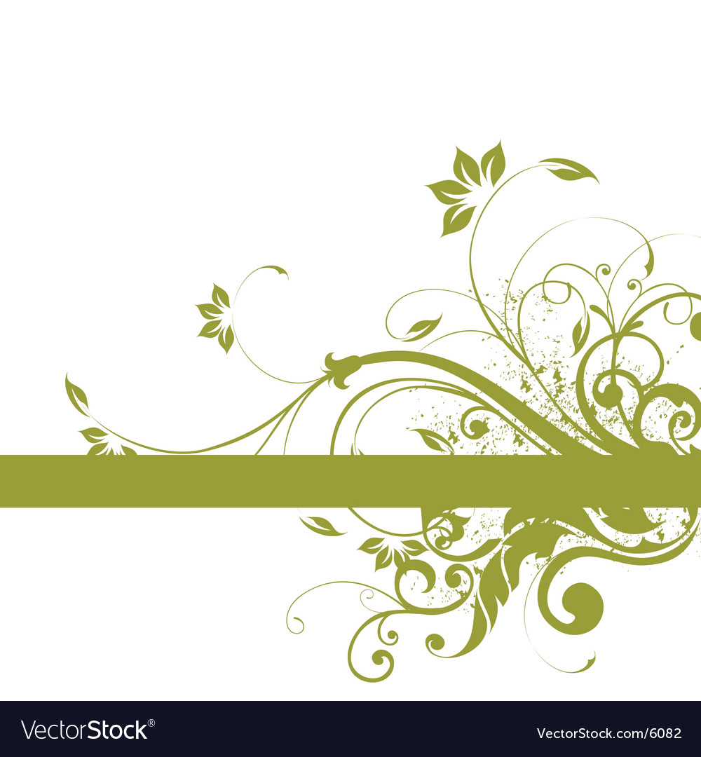 Floral background frame design vector | Price: 1 Credit (USD $1)
