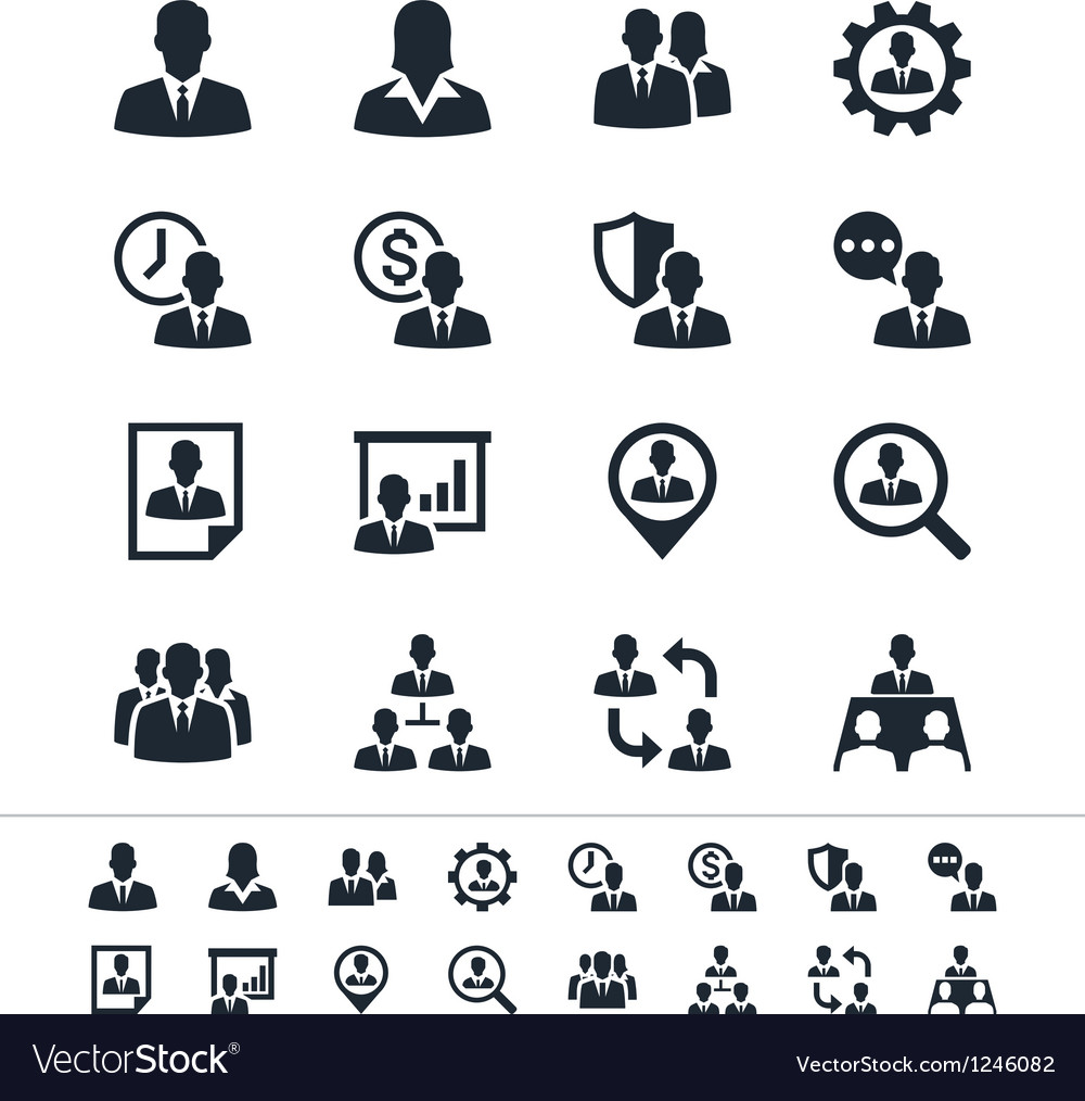 Human resource management icons vector | Price: 1 Credit (USD $1)